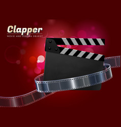 Clapper movie cinema object vector