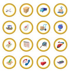 Logistics cartoon icon circle vector