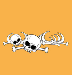 Human remains isolated bones skeleton and skull vector