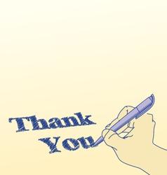 Thank you vector