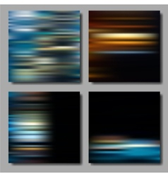 Blurred striped backgrounds set vector