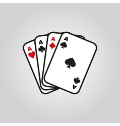 The ace icon playing card suit symbol vector