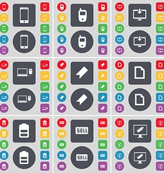 Smartphone mobile phone monitor laptop marker file vector