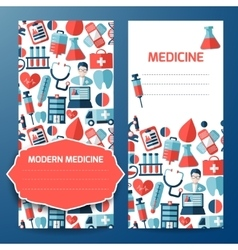 Business card and letterhead with medical symbol vector