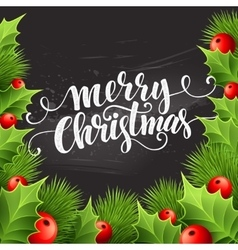 Christmas decoration on chalk board vector
