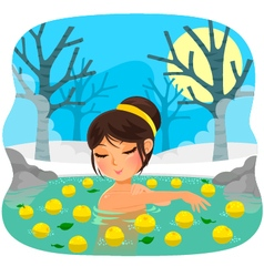 Yuzu bath vector