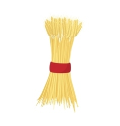 Sheaf of wheat icon cartoon style vector