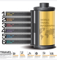 Travel and journey business infographic with vector