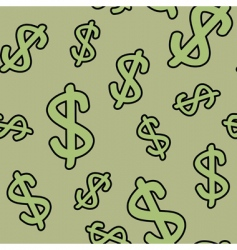 background with symbols of dollar vector image