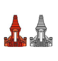 Bajang ratu gate temple vector