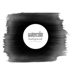 Black paint stroke watercolor grunge effect vector