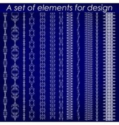 Calligraphic design elements 1 - set vector image vector image
