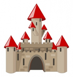 cartoon castle isolated on white vector image