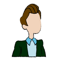Cartoon man business manager people portrait vector
