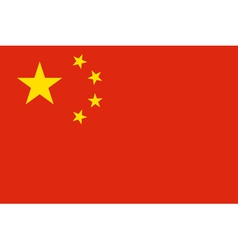 China Flag Original proportion and colors High vector image vector image