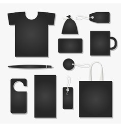 Corporate flat identity mock-up template for your vector