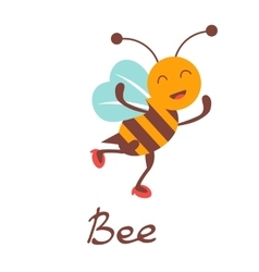 Cute colorfulbee character vector image vector image