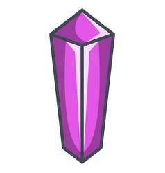 Emerald diamond in a flat style vector