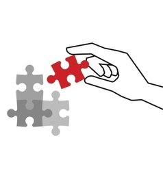 Final piece of puzzle vector image