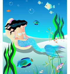 gentle mermaid vector image vector image
