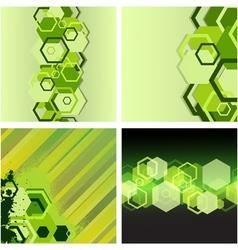 hexagon backgrounds vector image vector image