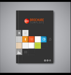 Modern abstract brochure book flyer design vector