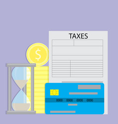paying taxes with credit card vector image