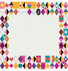 Retro style decorative border vector