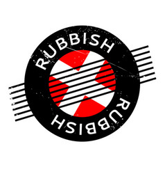 Rubbish rubber stamp vector