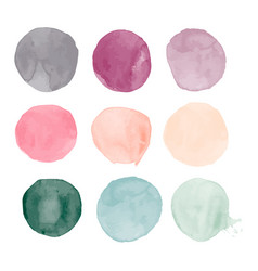 set of colorful watercolor hand vector image
