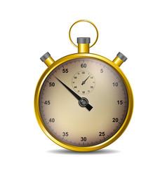Stopwatch in golden design vector
