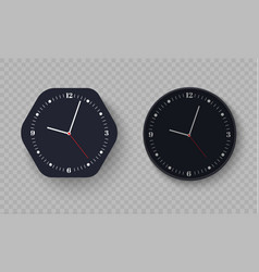 Wall clock office template design in vector