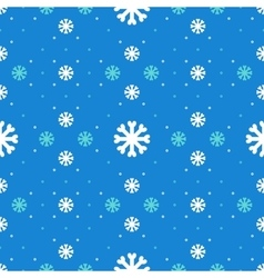 Winter seamless pattern snowflakes background vector