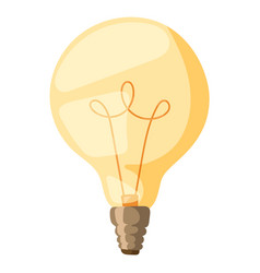Yellow light bulb isolated vector