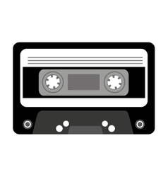 Cassette music retro icon vector