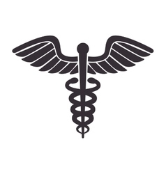 medical symbol caduceus vector image