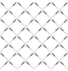Swords seamless pattern vector