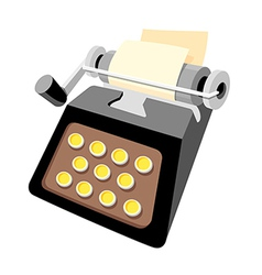 icon typewriter vector image