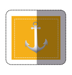 Color sticker frame with anchor vector