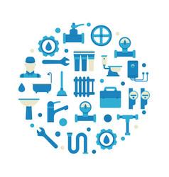 Plumbing repair and service vector