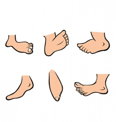 feet collection vector image