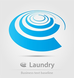 Laundry business icon vector