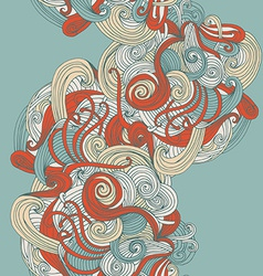 Abstract seamless hand-drawn wave pattern vector
