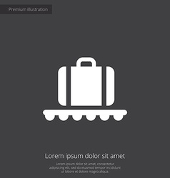 Luggage on airport premium icon vector