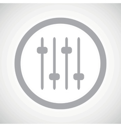 Grey faders sign icon vector