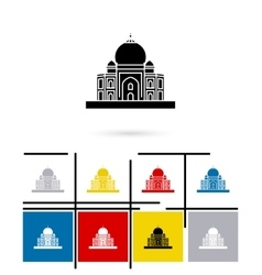 Taj mahal in india icon vector
