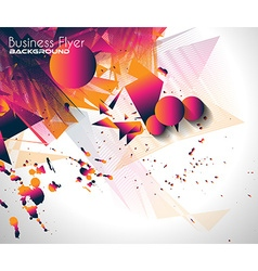 Abstract Background with Shapes Explosion For vector image vector image