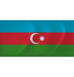 Azerbaijan waving flag vector