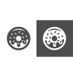 Doughnut icon vector