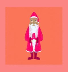 Flat shading style icon santa claus vector
